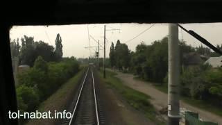 Проезд в кабине электровоза через Днепр в Кременчуге