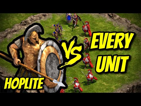 HOPLITE vs EVERY UNIT | Age of Empires: Definitive Edition |