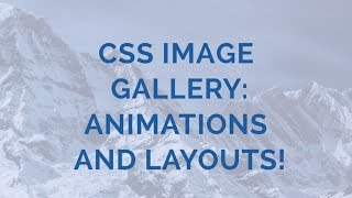 CSS Image Gallery: Animations and Layouts! thumbnail