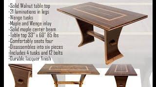 Walnut Trestle Table Pt 2 Of 3