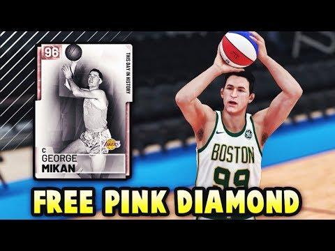 NBA 2K19 FREE PINK DIAMOND GEORGE MIKAN GAMEPLAY! *LOCKER CODE* | BEST FREE CARD IN NBA 2K19 MyTEAM?