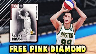 NBA 2K19 FREE PINK DIAMOND GEORGE MIKAN GAMEPLAY! *LOCKER CODE* | BEST FREE CARD IN NBA 2K19 MyTEAM?