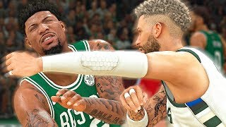 FIGHTING MARCUS SMART! LEFT HANDED UPPERCUT! - NBA 2K20 MyCAREER #15