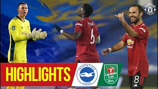 Highlights | Brighton 0-3 Manchester United | McTominay Mata & Pogba fire Reds through | Carabao Cup