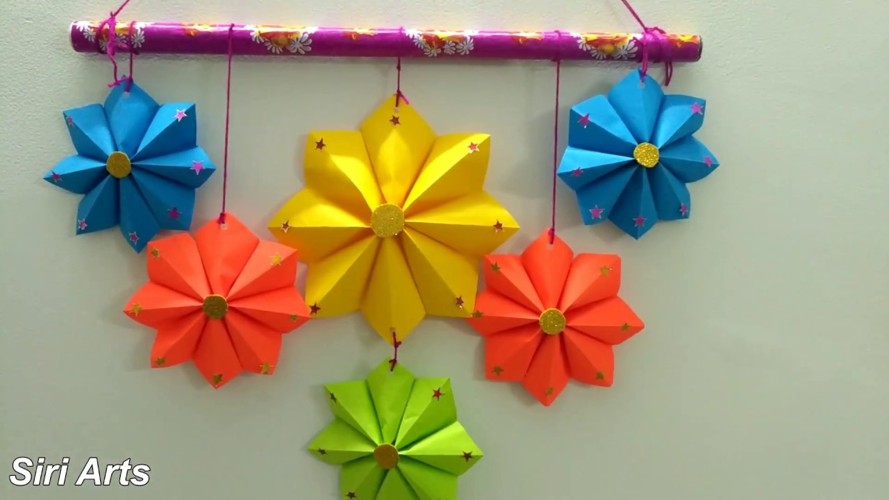 DIY Paper CraftsColourful Flower Wall Hanging
