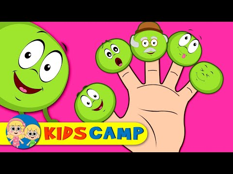 Crazy Happy Peas Finger Family And Many More Finger Family Songs & Nursery Rhymes by KidsCamp