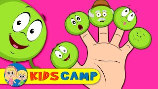 Crazy Happy Peas Finger Family And More Nursery Rhymes by KidsCamp
