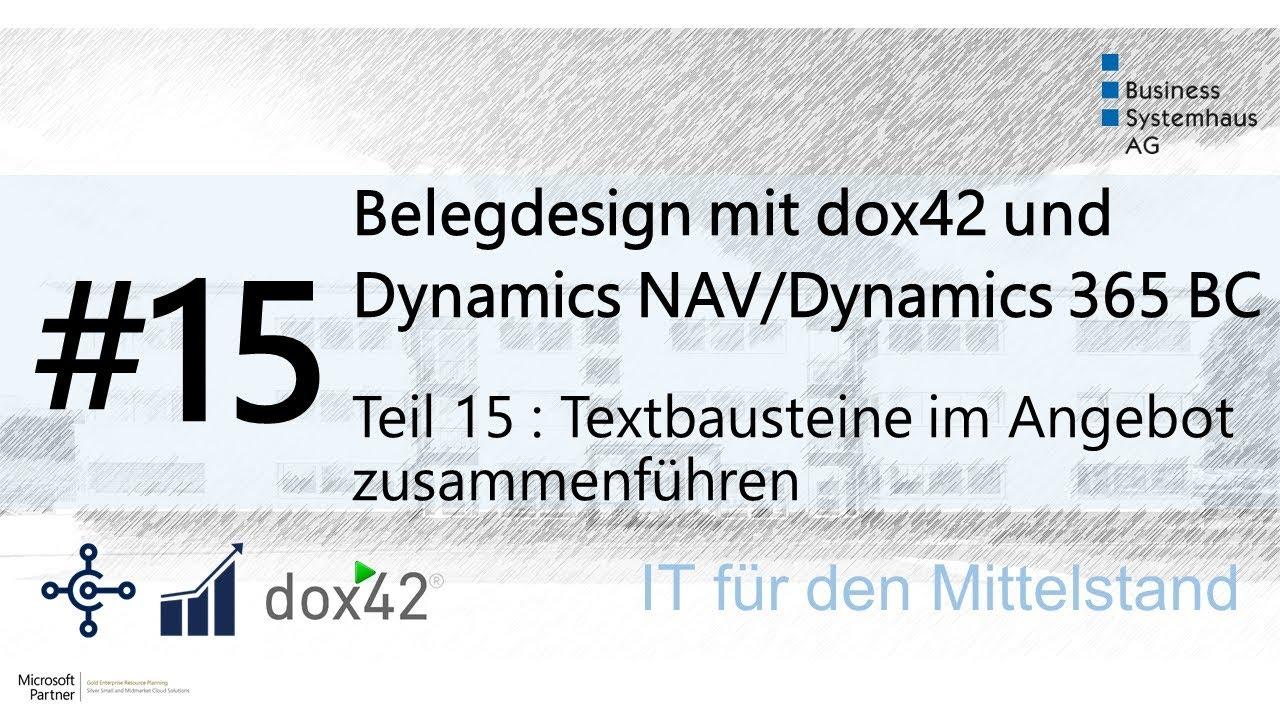 Dynamics Navdynamics 365 Bc Design Hack Textbausteine Im Angebot