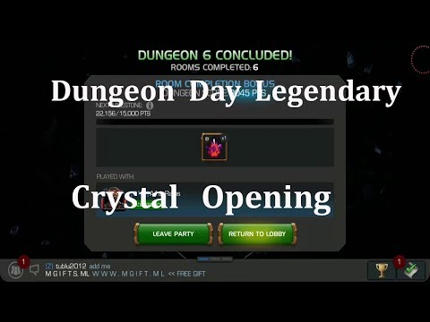 DUNGEON DAY LEGENDARY  AND ULTIMATE CRYSTAL OPENING marvel contest of champion