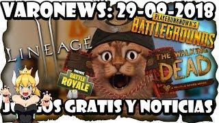 #Juegos #gratis y Noticias PUBG, TellTale, Fortnite, Lineage 2, Bowsette y más  Varonews