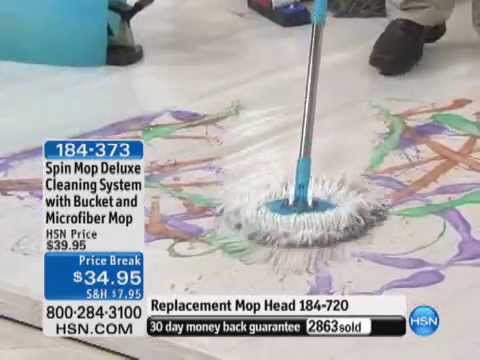 Spin Mop Deluxe Cleaning System With Bucket And Microfiber