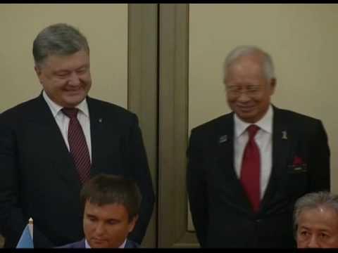 Malaysia-Ukraine: Presiden Petro Poroshenko Diberi Sambutan Rasmi