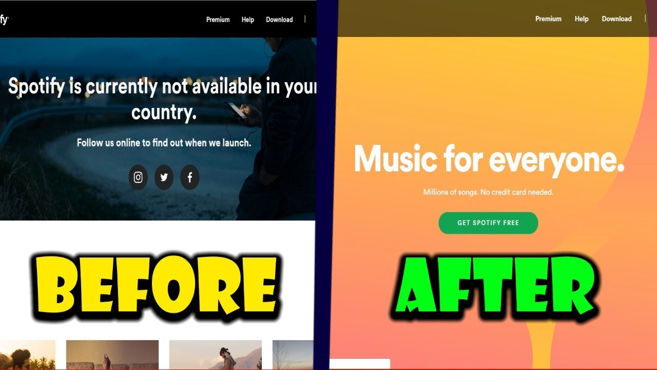 How To Get Spotify In Any Country Fix Spotify Not Available In Your Country Youtube