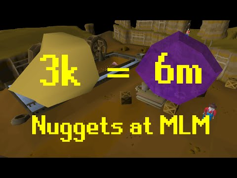 OSRS - MLM - 3K Nuggets on Gems 70 - 99 Mining