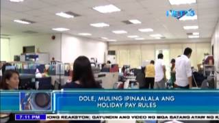 DOLE reminds employers to follow proper holiday pay rules