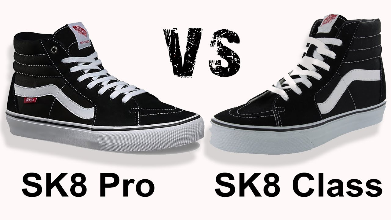 VANS SK8 HI PRO vs VANS SK8 Classics on feet - YouTube 45b4fda76
