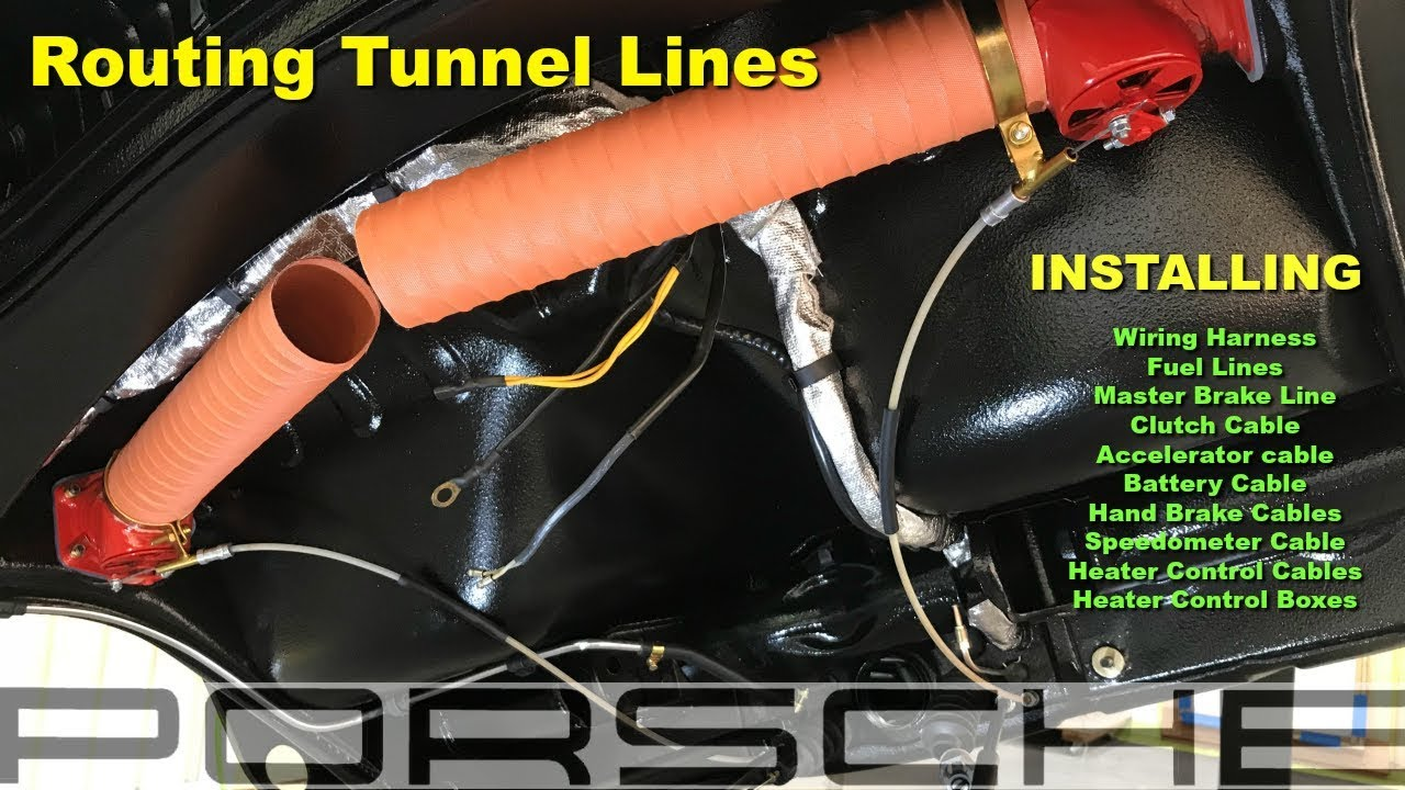 small resolution of 1967 porsche 911 video 38 installing tunnel lines