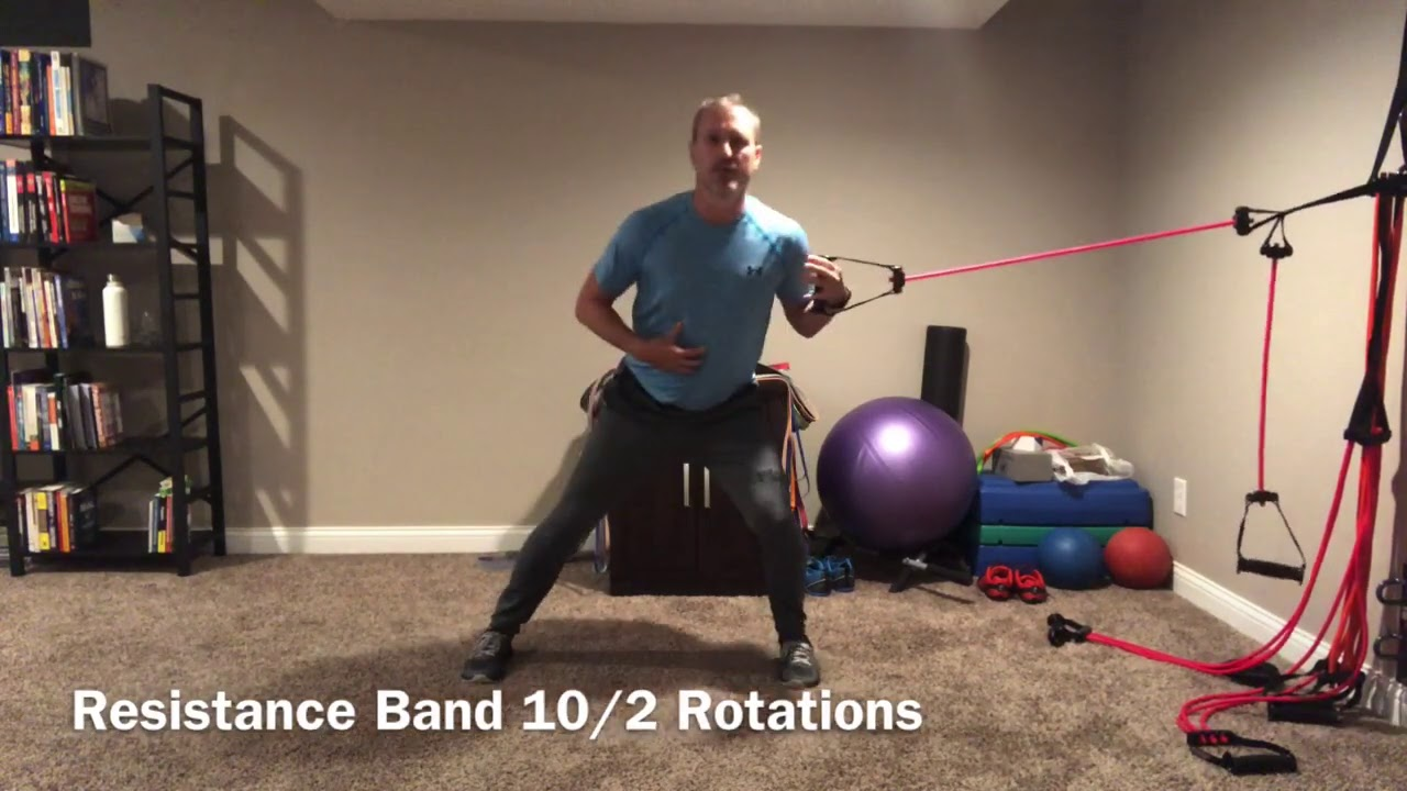 Resistance Band Tight Rotations To Build Core Stiffness