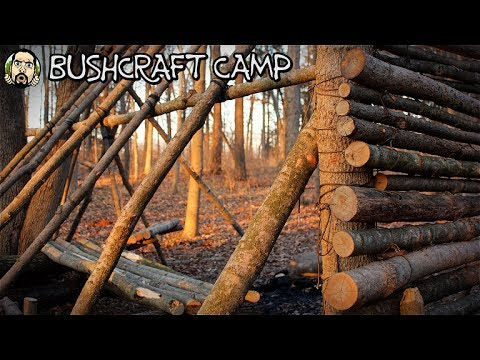 Making a Bushcraft Camp: Roof Talk, Raised Bed (Part 6)