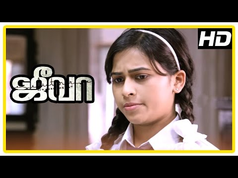 Jeeva Tamil movie | scenes | Marimuthu against Vishnu playing cricket | Sri Divya intro | Charlie