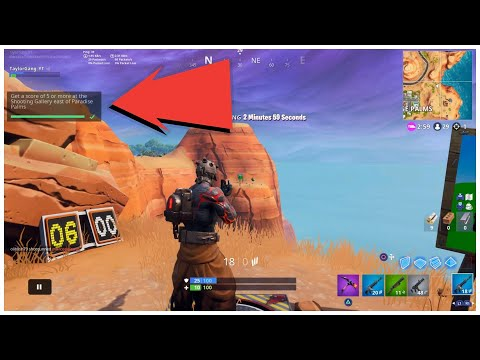 Fortnite All Shooting Gallery Locations Score 5 Or More At Wailing, Retail And Paradise Easy