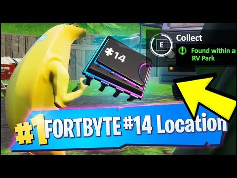 FORTBYTE 14 Location - FOUND WITHIN AN RV PARK (Fortnite)