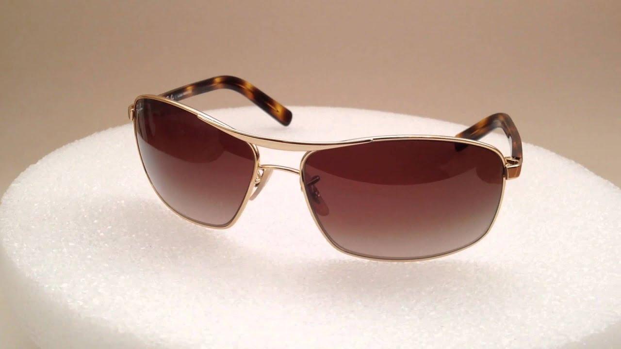 New Authentic Ray-Ban Brazil Wide Aviator Sunglasses Gold Brown Gradient  Lens rb3470l 001  RAY BAN AVIADOR ESPELHADO Azul - FloripaBagImports 6f7e2bff60