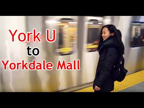 YorkU to Yorkdale Mall in the new YorkU Subway