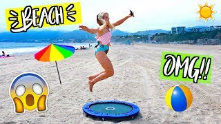 TRAMPOLINES ON THE BEACH!! AlishaMarieVlogs
