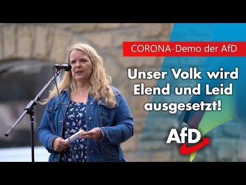 """CORONA-Demo   """"Das ist unmenschlich!""""   AfD-Politikerin mit eindringlichem Appell!"""
