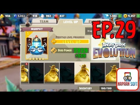 ANGRY BIRDS EVOLUTION - EAGER MOUNTAIN, PVP DIVISION, ANGER TOTEM - MURPHY-PRESTIGE LEVEL PROGRESS