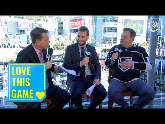 Jeff Garlin joins Kings pregame, roasts Golden Knights