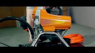 Экшен презентация аппарата для окраски АСпро 2100, аналога Graco 190, 290