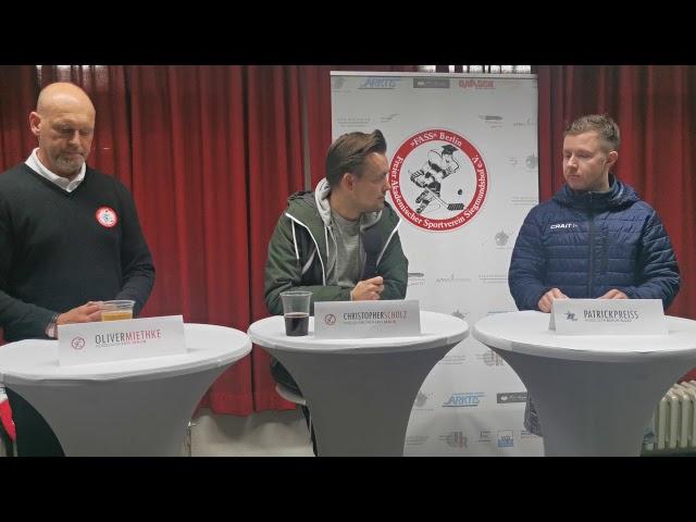 Pressekonferenz FASS Berlin Vs Berlin Blues