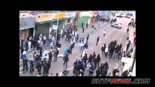 Scooter Rider Attacked By London Rioters