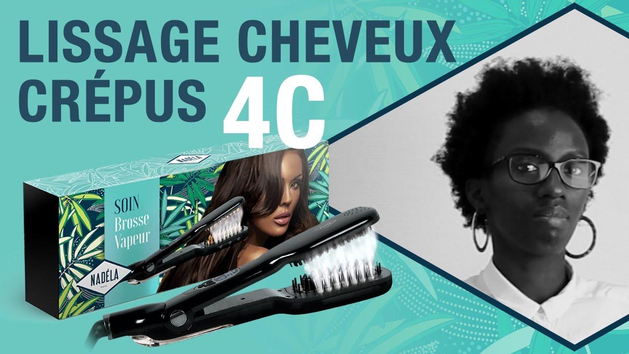 Lissage Test Sur Cheveux Crepus 4c De La Brosse Vapeur Nadela