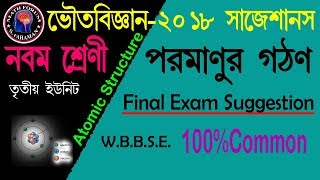 CLASS 9_PHYSICAL SCIENCE FINAL EXAM 2018//Class ix Physics Atomic Structure_3rd Evaluation