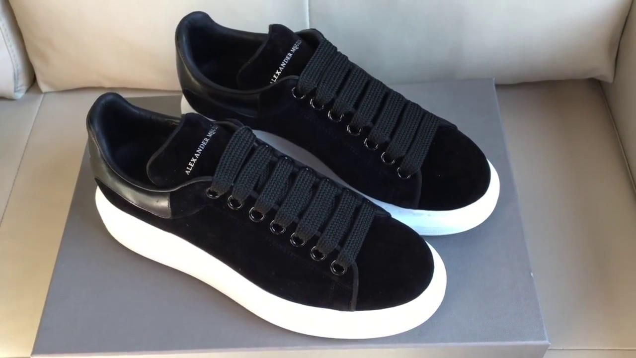 4a26251d56a2 ALEXANDER MCQUEEN 40MM VELVET   LEATHER SNEAKERS Unboxing - YouTube