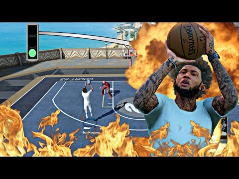 NBA 2k16 MyPark - NOBODY CAN GUARD THE BEST SHOOTER CAM!   2 AGAINST 1 HANDICAP MYPARK GAMEPLAY