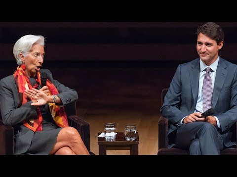 Justin Trudeau and IMF's Christine Lagarde on gender equality at Women in the World summit