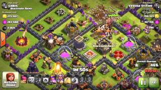 Clash of Clans - 27 Giants with 89 Archers Destroy TH 10 with Inferno LV 3 and X-Bow LV 4