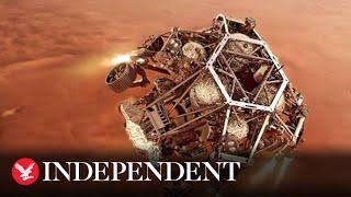 Watch again: Nasa presents 360-degree view of Mars landing site