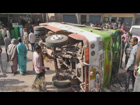 Bus accident in Rajouri, several injured