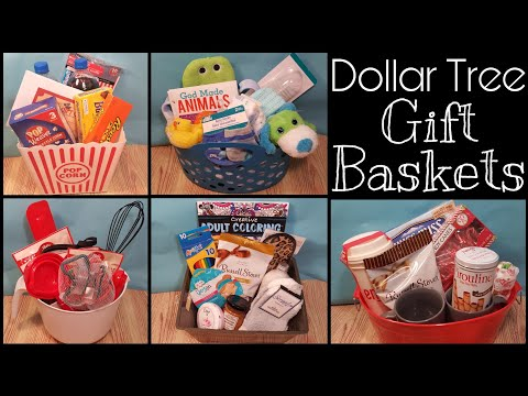 Dollar Tree Gift Baskets • Five Baskets Averaging $10 Each