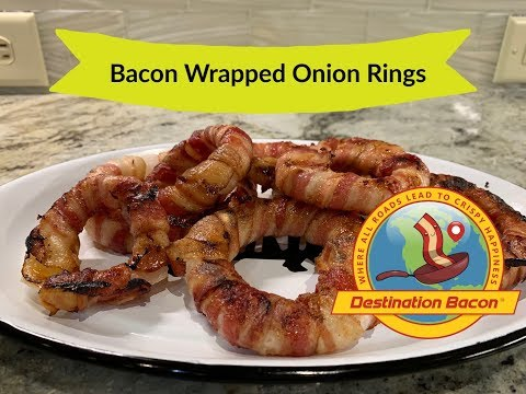Bacon Wrapped Onion Rings