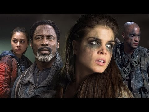 The 100: Lindsey Morgan, Marie Avgeropoulos, Ricky Whittle, Isaiah Washington  ComicCon 2015