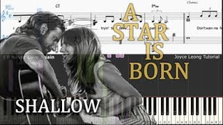 Lady Gaga & Bradley Cooper - Shallow (A Star is Born) - Tutorial & Sheets
