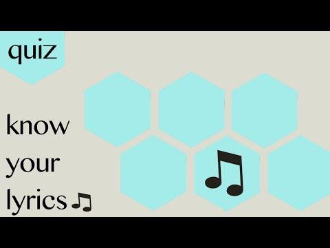 Quiz: know your lyrics