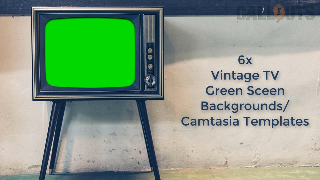Camtasia template vintage tv sets green screen backgrounds for Green screen backgrounds free templates