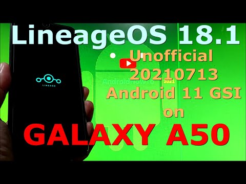 LineageOS 18.1 Unofficial 20210713 on Samsung Galaxy A50 GSI ROM